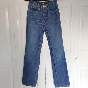 BDG Button Fly High Waist Straight Mom Leg Jeans